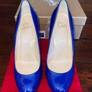 Christian Louboutin 120mm bianca patent heels